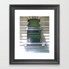 Window Shutter Framed Art Print