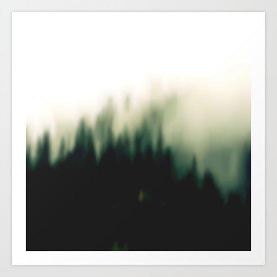 Foggy forrest 2 Art Print