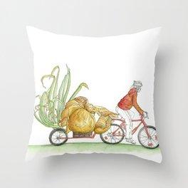 Sprouting Onion Throw Pillow