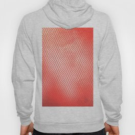 Chevron pattern in peach echo with texture Hoody