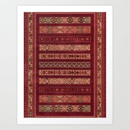 Oriental Vintage Moroccan Artwork Design C6 Art Print