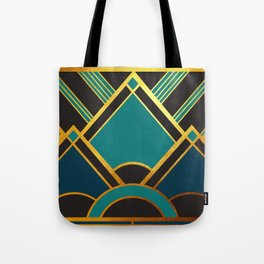 Art Deco New Tomorrow In Turquoise Tote Bag
