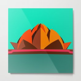 Lotus Temple, Modern Architecture Abstracts Metal Print