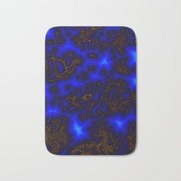 Blue Lightning Abstract Bath Mat