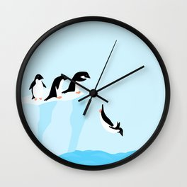 Adélie penguins Wall Clock