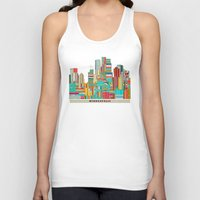minneapolis Tank Tops featuring Minneapolis city  by bri.buckley