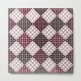 Patchwork, plaid 2 Metal Print