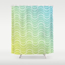 Getting lost in the grooves.  Shower Curtain