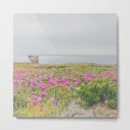 Flowers over the ocean Metal Print