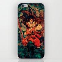 goku iPhone & iPod Skins featuring Kid Goku by Sirenphotos