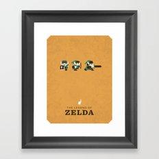The Legend of Zelda Framed Art Print