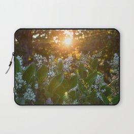 Sunset through the flowers Laptop Sleeve