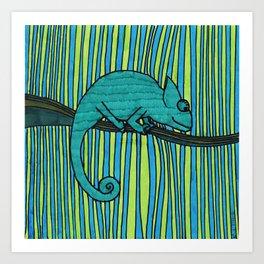 Eugene, the chameleon Art Print