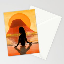 Sunset Onsen Stationery Cards