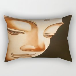 Tranquil oil painting of a peaceful Buddha  Rectangular Pillow