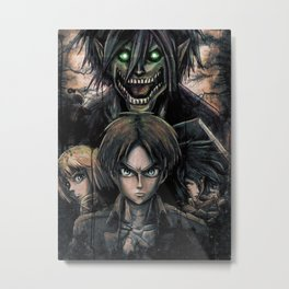 Attack of the Evil Giants Metal Print