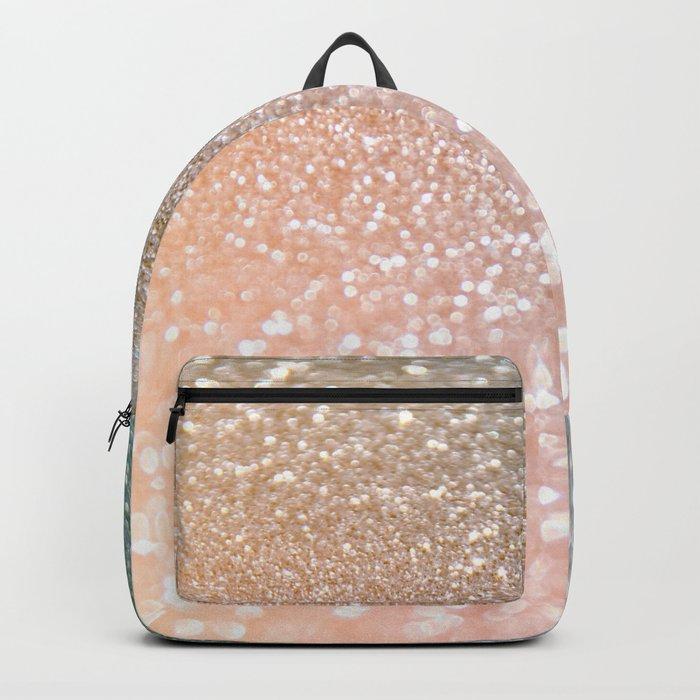 Rosequartz Rose Gold glitter - Pink luxury glitter sparkling design Backpack
