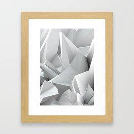 White Noiz Framed Art Print