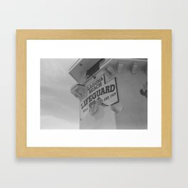 Lifeguard Station Framed Art Print