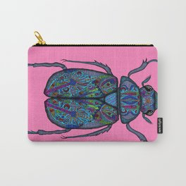 Psychedelic Scarab Beetle Carry-All Pouch