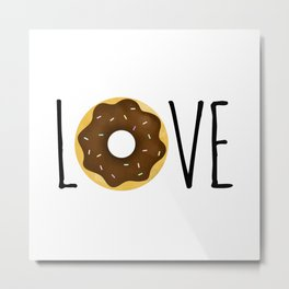 I Love Donuts Metal Print