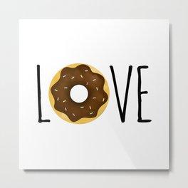 I Love Donuts Metal Print