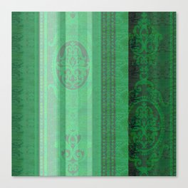 Boujee Boho Emerald Green Tapestry Print Canvas Print