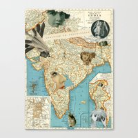 india Canvas Prints featuring India by Ubik Designs