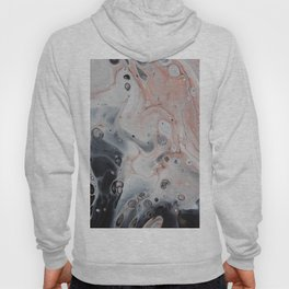 strange visions 25, acrylic abstract painting,grey, black, pink Hoody