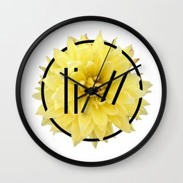 Trench Yellow Flower 2 Wall Clock