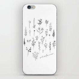 Wildflowers II iPhone Skin