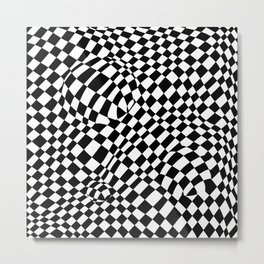 Bubbly checkers Metal Print
