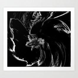 Black as Night Art Print