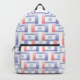 Mix of flag : france and israel 2 with color gradient Backpack