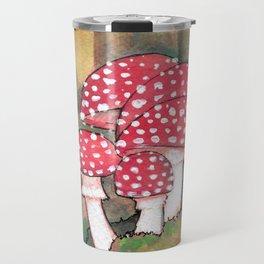 Mushrooms in the Woods Travel Mug