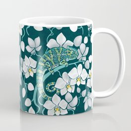 Chameleons and orchids Coffee Mug