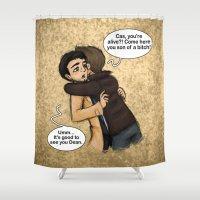hug Shower Curtains featuring Hug by Phantasmic Dream