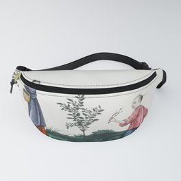 Chinese painting illustrating a mother and a son plucking tea sprouts (ca1800-1899) from the Miriam Fanny Pack