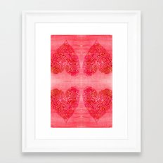 Heart of gold Framed Art Print