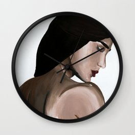 Stop Looking Back Wall Clock