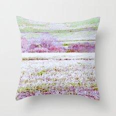 Flower Landscape Throw Pillow