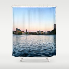 Clear & Blurry Lake Shower Curtain