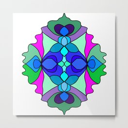 Colorful Henna Mandala Metal Print