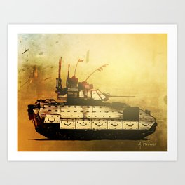 Bradley Fighting Vehicle Art Print