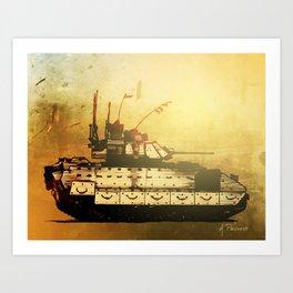 Bradley Fighting Vehicle Art Print