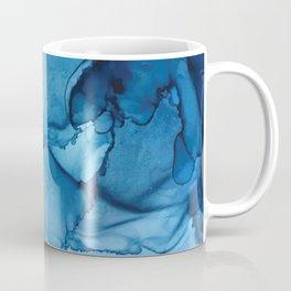 Blue Tides - Alcohol Ink Painting Coffee Mug