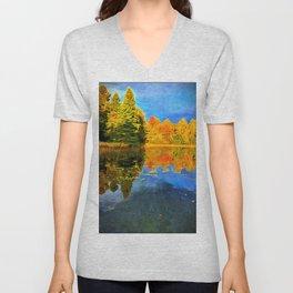 Lone Tree Lake in Northwoods, WI Unisex V-Neck