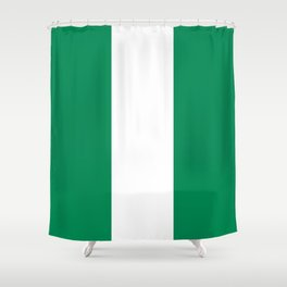Nigerian Flag - Authentic High Quality HD Image Shower Curtain