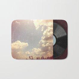 Summer Skies As Vintage Album Art Bath Mat
