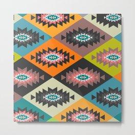 Festive geometric joy Metal Print